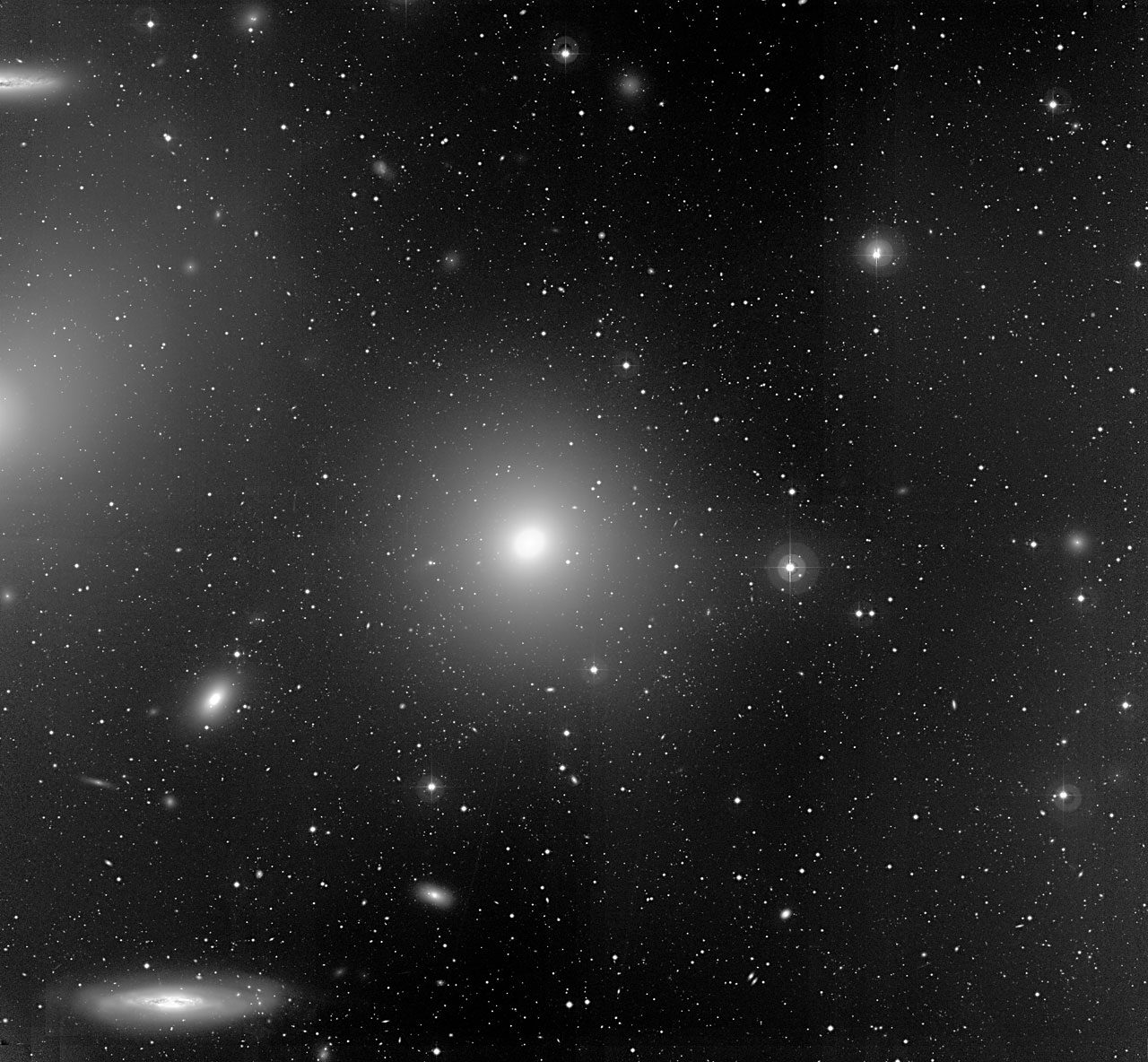 Bright Galaxies in the Virgo Cluster. Image: ESO.